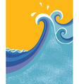 sea waves poster vector image vector image