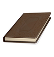old brown book vector image vector image