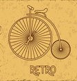 with retro bicycle vector image