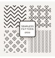 A set of four seamless patterns Zigzag vector image