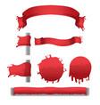 blood red splash banner border vector image