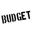 Budget black rubber stamp on white vector image