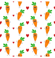 Carrots seamless pattern vector image