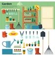 Concept of Gardening Tools for Working in Garden vector image