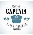 Old Salt Captain Vintage Marine Logo vector image
