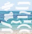 Ribbon Set With Sea vector image
