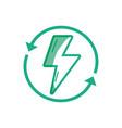 silhouette energy hazard symbol with arrows around vector image