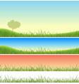 spring green grass landscape set vector image