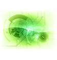 tech background green gloss vector image