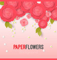 paper flower realistic style of pink vector image