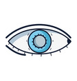 heathy eye vision and optical care vector image