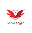 star wing emblem logo vector image