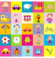 Background for kids with toys vector image vector image