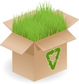 recyclable open box vector image
