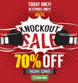 Knockout Sale Promotion vector image