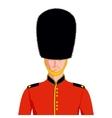 Royal British guard vector image vector image