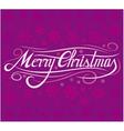 christmas card - merry christmas vector image