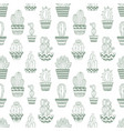 hand drawn sketch pattern cactus vector image
