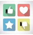 Like and dislike icons set vector image