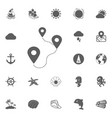 location route icon vector image