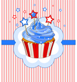 Patriotic cupcake place card vector image
