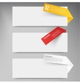Set of blank rectangle labels acute corners vector image