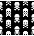 Skull Seamless pattern background white black vector image