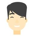 Smiling happy man vector image