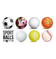 sport balls set isolated vector image