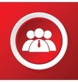 User group icon on red vector image