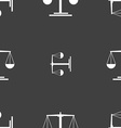 scales Icon sign Seamless pattern on a gray vector image
