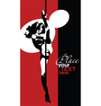 Dancing on a pole vector image vector image