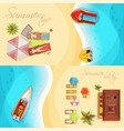 beach holiday horizontal banners top view vector image