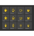 Coffee mug duotone icons vector image