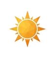 Abstract simple polygonal sun vector image vector image
