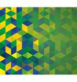 Abstract geometric Brazil flag vector image