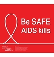 AIDS ribbon poster vector image