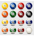 billiardpool balls collection snooker vector image