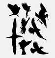 Bird flying animal silhouette 2 vector image