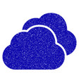 clouds icon grunge watermark vector image