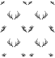 Different Horns Seamless Pattern vector image