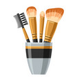 set of brushes for make up of object vector image