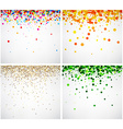 Set of color backgrounds vector image
