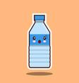 water plastic bottle kawawii sign vector image