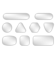 White buttons for web vector image