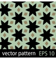 Abstract geometric floral pattern vector image vector image