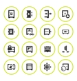 Set round icons of safe vector image vector image