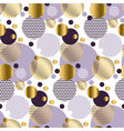Xmas seamless dots modern pattern white background vector image