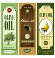 cartoon olive oil labels set vector image