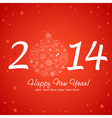 2014 Happy New Year greeting card vector image vector image